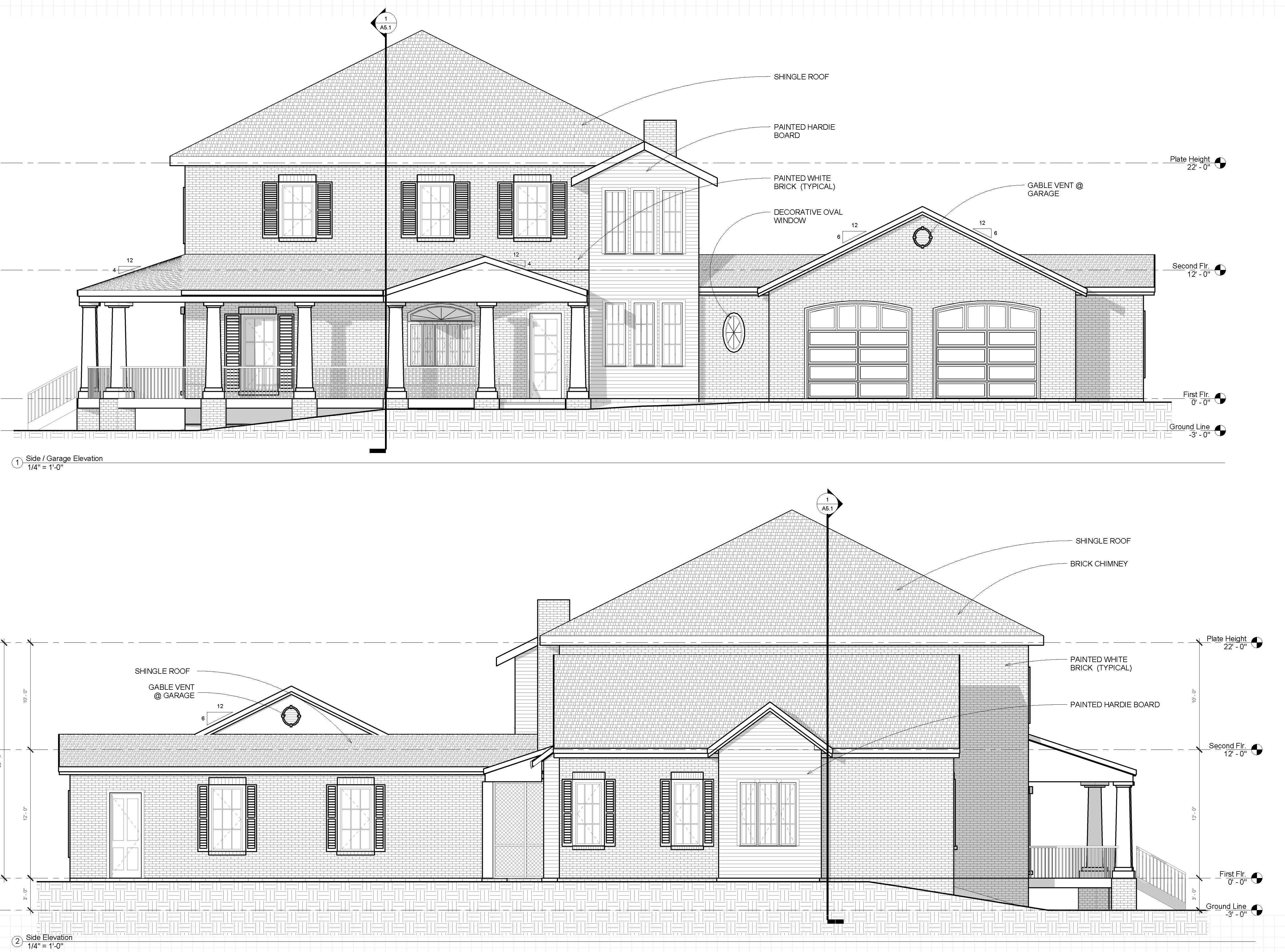 Samples   Draw My House Plan     custom house plan elevations